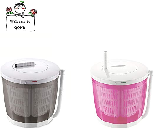 QQNB Lavadoras Manuales con Barril Simple,Mini Lavadora Portatil ...