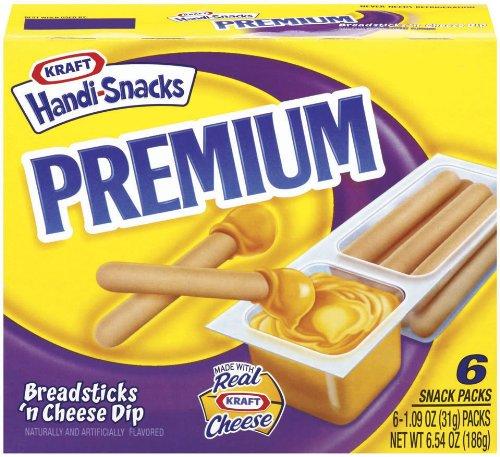Kraft Premium Handi-Snacks, Breadsticks 'n Cheese Dip, 6.54 oz (Pack 9)