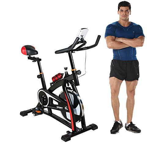 Enshey Exercise Bike Workout Trainer Cardio Fitness Bicycle Equipment Ultra-Quiet Fitness Equipment for Home Indoor Gym Shipped from USA 2-5 Days Delivery