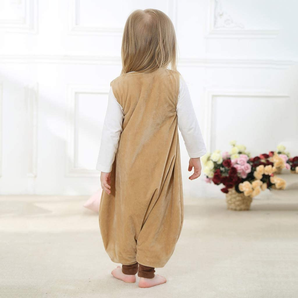 Sunnywill Sac de Couchage dhiver pour B/éb/é Gigoteuses Douillette /à Pieds Confortable Amovibles Cartoon Design Coton Pure pour Nouveau-n/é 1-6 Ans
