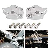 MUJUN Motorcycle Handlebar Riser Spacer Kit For