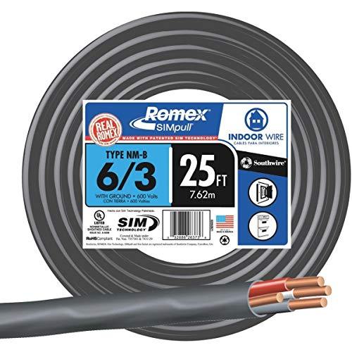 Romex 6-3 NMW/G Wire - 63950021