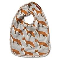 """Milkbarn Organic Cotton Traditional Bib """"Orange Fox"""""""