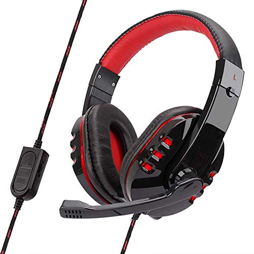 Gaming Headphones, LED Lighting Over-Ear Headphone Headset Headband With Mic For PC Computer Game With Noise Cancelling…