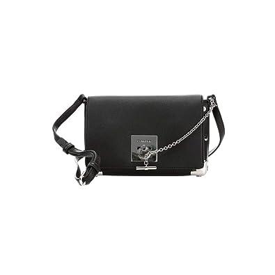 5ff156e55fb Calvin Klein Ck Lock Med Flap Xbody Corners, Women's Cross-Body Bag, Black