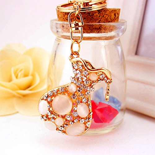OLQMY Cute/gift/Water Drill Opals Bags Bags Car Key Ring Pendant Birthday Valentine'S Day Gift Female Package 54Cm