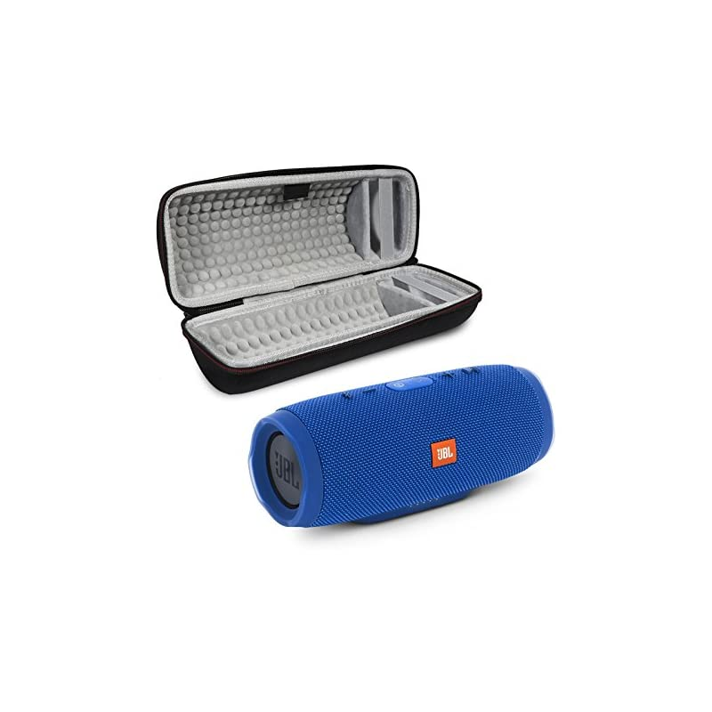 JBL Charge 3 Portable Wireless Bluetooth Speaker Bundle with Protective Case - Blue