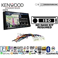 Volunteer Audio Kenwood DNX874S Double Din Radio Install Kit with GPS Navigation Apple CarPlay Android Auto Fits Non Amplified 1987-2009 Toyota 4Runner, 1987-2015 Camry, 1995-2015 Tacoma