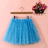 Sinwo Womens Girl Cute Pleated Gauze Short Skirt Adult Tutu Dancing Skirt Basic Skirt (Sky Blue)