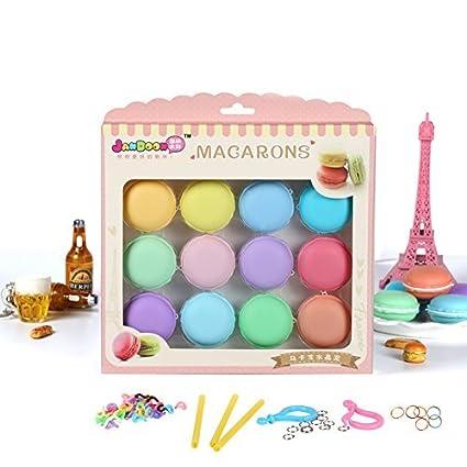 12 Pcs Set Colorful Macaron Crystal Slime Toys Diy Blowing