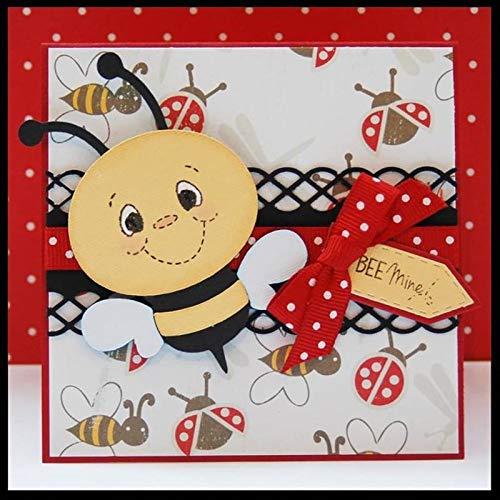 STAR-FIVE-STORE - 3pcs/set Happy Bee Animal Cartoon Metal Cutting Dies Craft Easter Die Cut Embossing Stamps Stencils Template Cutting Die LQK8365