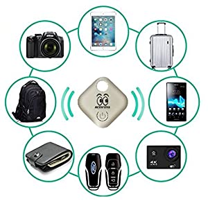 Key Finder Wireless Security with Bluetooth for Cell Phone to Locate Lost Key Luggage Wallet Dogs People Kids. GPS Device for IOS & Android Phones. Electronic Gadgets Free Battery & APP Included.