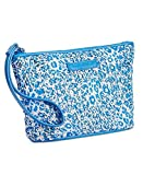 Gorgeous Vera Bradley Blue Mesh Sequin Wristlet/Wallet in Camocat Blue
