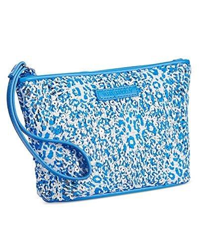 Gorgeous Vera Bradley Blue Mesh Sequin Wristlet/Wallet in Camocat Blue