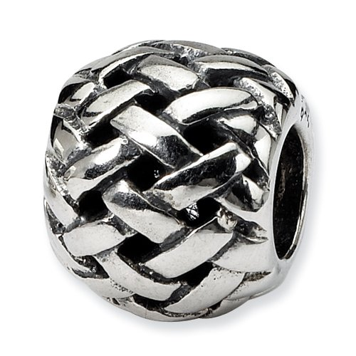 Sterling Silver Reflections Basketweave Bali Bead Strands-of-beads