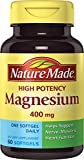 Nature Made High Potency Magnesium 400 Mg One per Day Softgels 60 Ct