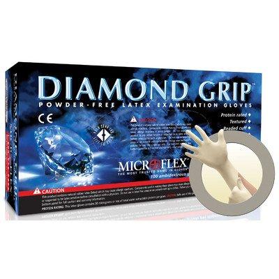 Microflex MF-300-L Large Diamond Grip Latex Gloves 100 Count