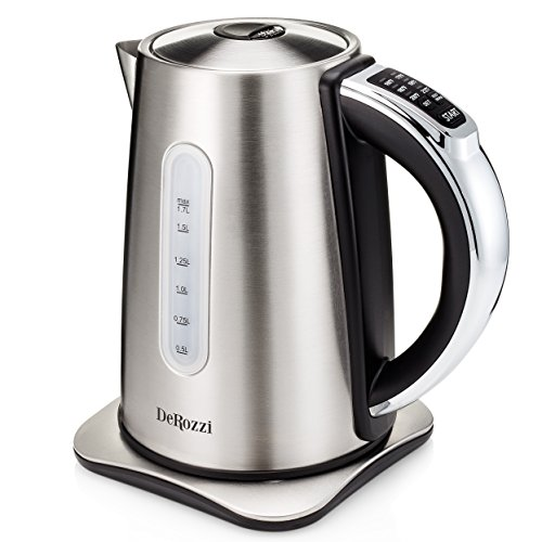 DeRozzi Stainless Steel Electric Kettle for Tea Water Pot with 6 Temperature Control Variable Heat...