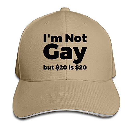 - ACMIRAN I'm Not Gay But $20 Is $20 Funny Baseball Cap One Size Natural