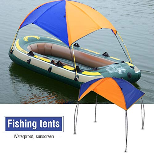 Regun Fishing Sun Shade,Boat Sun Shelter Kayak Awning Canopy Fishing Tent Sun Shade (2 Persons)