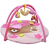 JSIHENA Activity Gym Playmat Soft and Comfortable Not Sultry Multi-Functional Early Childhood Essential Gift Suitable for 0-1 Year Olds,Pink