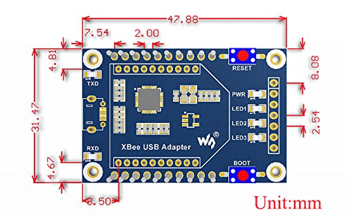 Waveshare XBee USB Adapter USB Communication Board with Xbee Interface Supports XBee Connectivity by Waveshare-Module (Image #2)