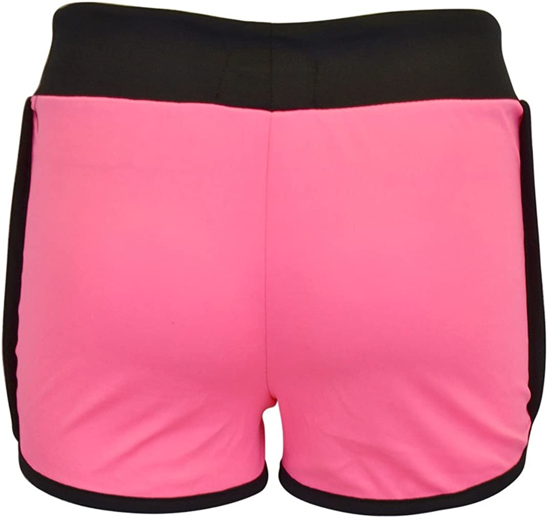 NOROZE Girls New York Print Drawstring Hot Pants Runner Shorts Age 5-13 Years