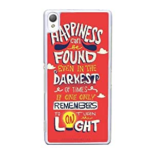 Durable Rubber Cases Sony Xperia Z3 Cell Phone Case White Harry Potter quotes Gmnpuy Protection Cover