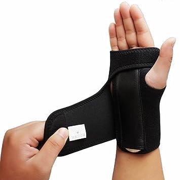 Muñequera para mano izquierda o derecha para túnel carpiano, férula de muñeca extraíble para tendinitis