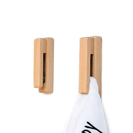 Portasciugamani In Legno Per Bagno.Jinmury Moderna Porta Asciugamani In Legno Set Di 2 Adesivi