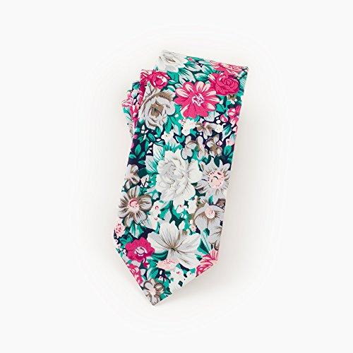 Man fiore verde regolabile Acvip cravatta a cravatta fiori con Cravatta nTU7xwvw