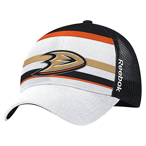 NHL Anaheim Ducks Men's Face-Off Structured Flex Hat, One Size, White