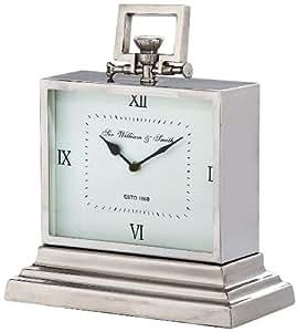 Kare Sir William & Smith reloj de mesa aluminio