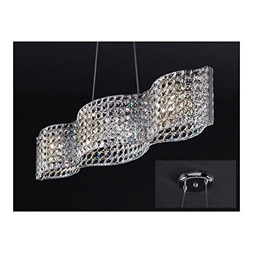 Schuller Spain 161952I4L Modern, Art Deco Chrome Hanging Ceiling Light Pendant 4 Light Dining Room, Living Room LED | ideas4lighting by Schuller