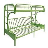 ACME Furniture 02091W-GR Eclipse Futon Bunk Bed, Twin/Full, Green