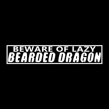 Amazon.com: Beware Of Lazy Bearded Dragon Enclosure vinilo ...