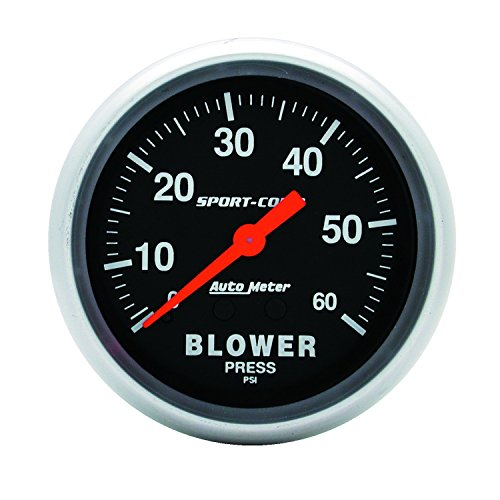 Auto Meter 3402 Sport-Comp Mechanical Blower Pressure Gauge (Mechanical Blower Pressure Gauge)