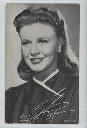 Ginger Rogers COMC REVIEWED Good to VG-EX (Trading Card) 1940-60 Exhibit Movie Stars - Made In U.S.A. #GIRO