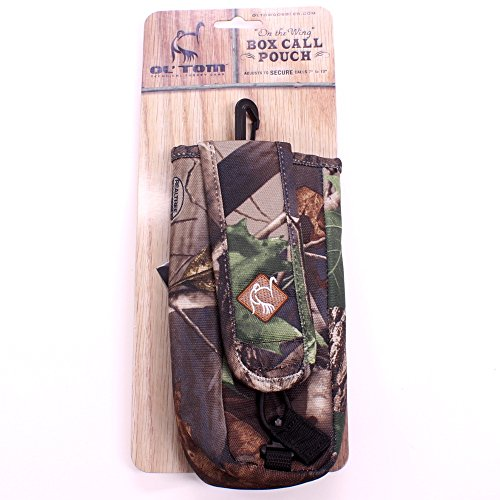 Ol' Tom On the Wing Box Call Pouch - Hardwoods Green Camo -