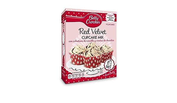 Betty Crocker - Red Velvet Cupcake Mix - Preparado en polvo para elaborar magdalenas, 277 g: Amazon.es: Alimentación y bebidas