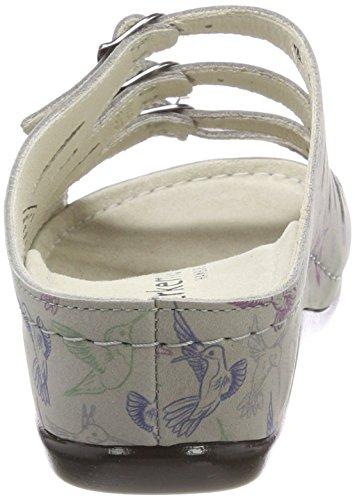 Berkemann Damen Hassel Pantoletten Mehrfarbig (Grau/kolibri)