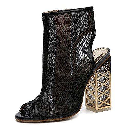 KUKI Römische Artkristallfischkopfsandelholze mit Schuhen der hohen Absätze 1