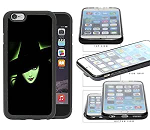 Halloween Green Witch Outline Glow PC Silicone Hard Cell Phone Case Apple iPhone 6 (4.7 INCH SCREEN)