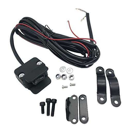 (Baoblaze Replacement 3 Meters Winch Rocker Switch Handlebar Control Line Black For ATV)