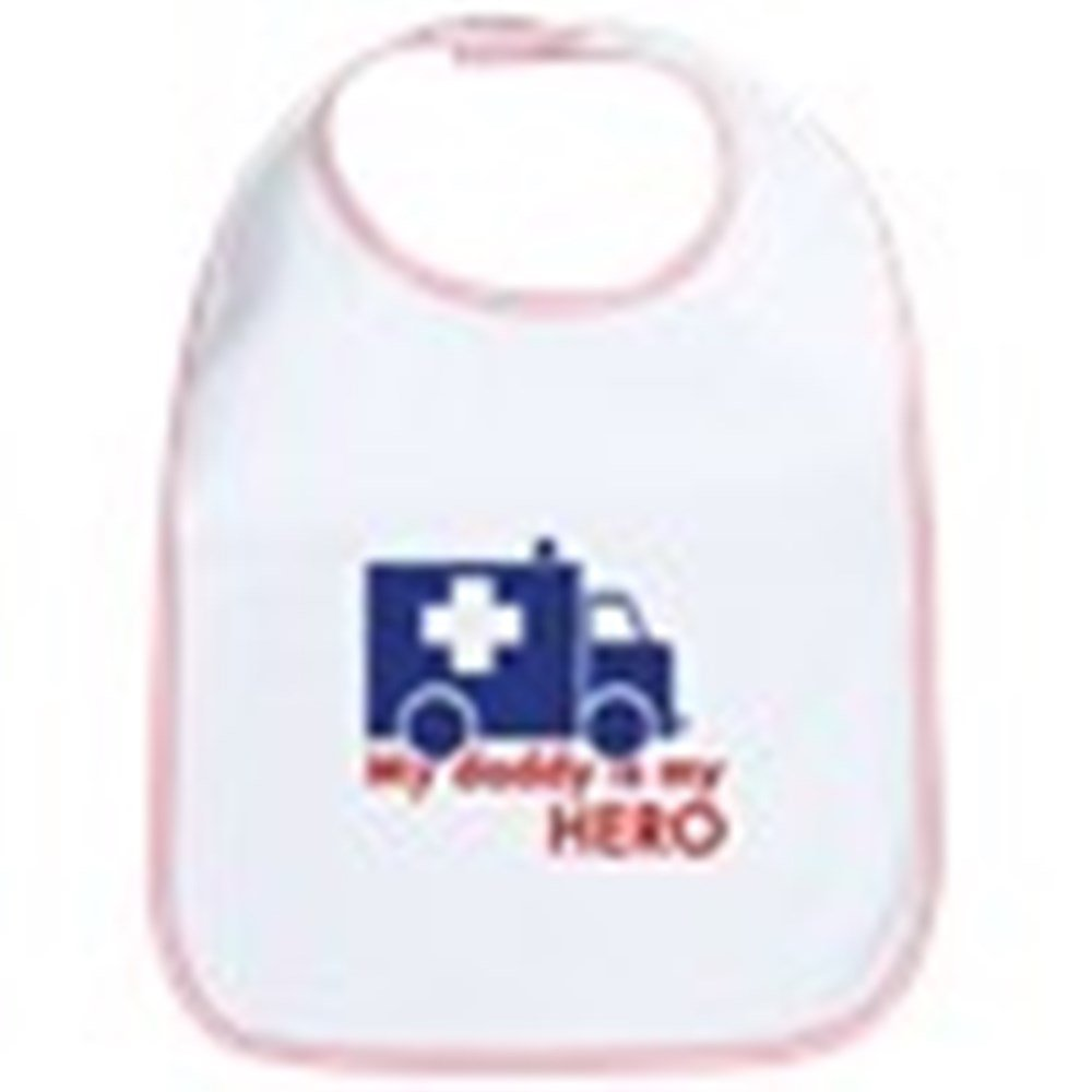 CafePress - My Daddy Is My Hero (Paramedic) Bib - Cute Cloth Baby Bib, Toddler Bib