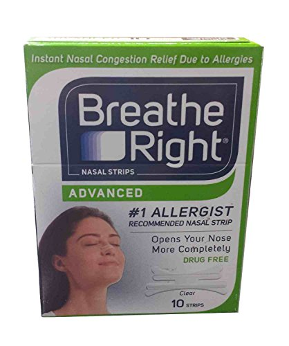 2X Breathe Right Advanced Nasal Strips (10 Clear Strips Ea Box) = 20 Strips (Green Box) by Breathe Right