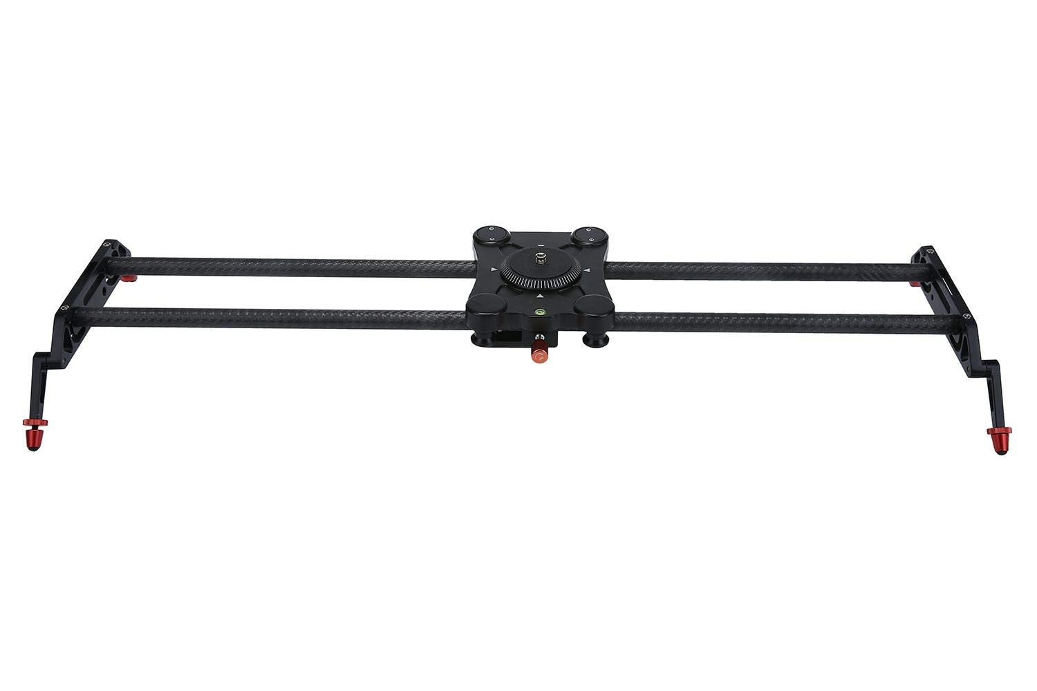 KOBWA 80cm Length Carbon Fiber Material GP-80Q Ball Bearing DSLR Camera Rail Track Dolly of Video Stabilization System for Camcorders (Black)