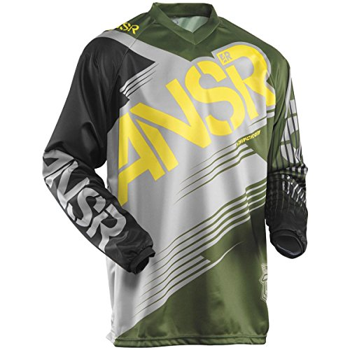 Answer Racing Syncron Youth Boys Dirt Bike Motorcycle Jersey - Forest Green / Medium