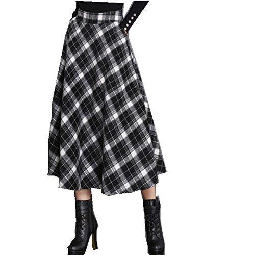 Vintage Wool Plaid Skirt - 5