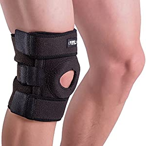 King of Kings Knee Brace Support Sleeve for Arthritis, Meniscus Tear, ACL, Running, Basketball, Sports, Athletic, MCL, Runners - Adjustable Open Patella Stabilizer Protector to Relieve Pain